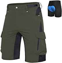 Ally Mens Mountain Bike Shorts MTB Shorts Bicycle Baggy Cycling Bike Shorts Cycle Wear Relaxed Loose-fit (Green, XL (Waist: 34-36