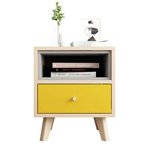 Bedside table CWT Mini dormitorio simple y económico (color amarillo)
