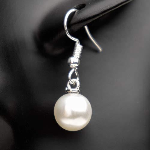 Ohrringe Damen hängend weiß Perle Lucil Ocean Pearl