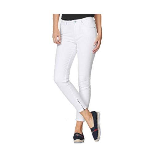 Pepe Jeans Damen Jeans Cher 7/8 Hose weiß Skinny Fit Jeans (28)
