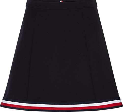 Tommy Hilfiger Damen Angela Glb STP Skirt Rock, Blau (Desert Sky Dw5), 34 (Herstellergröße: 36)