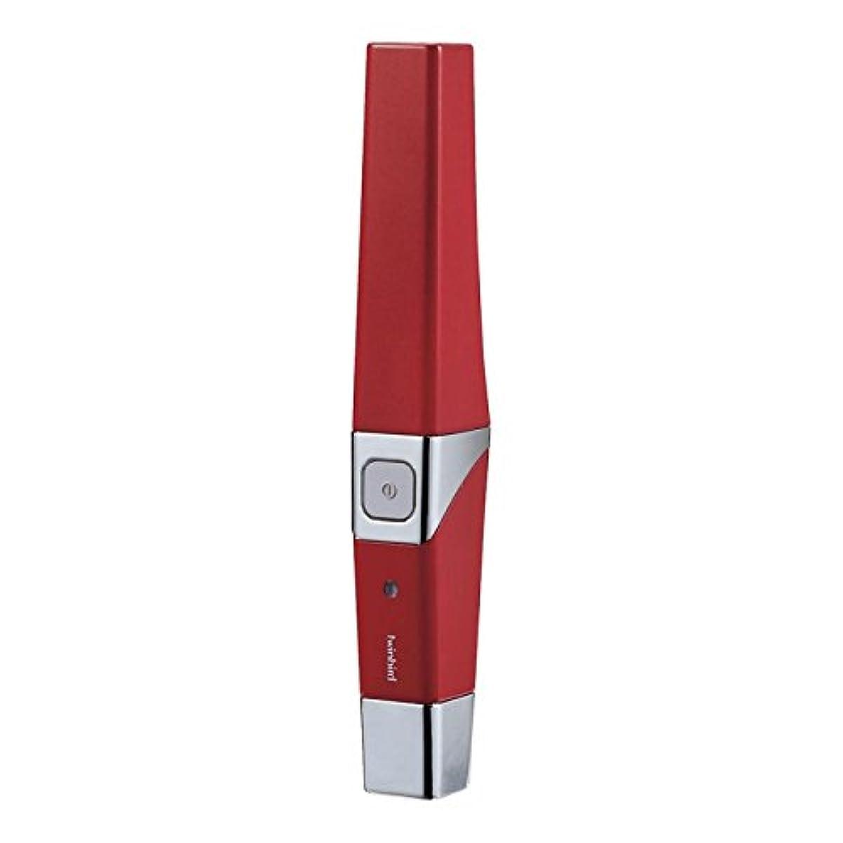 失礼僕の表向きツインバード 音波振動式USB充電歯ブラシ ACアダプター付 レッド BD-2757R