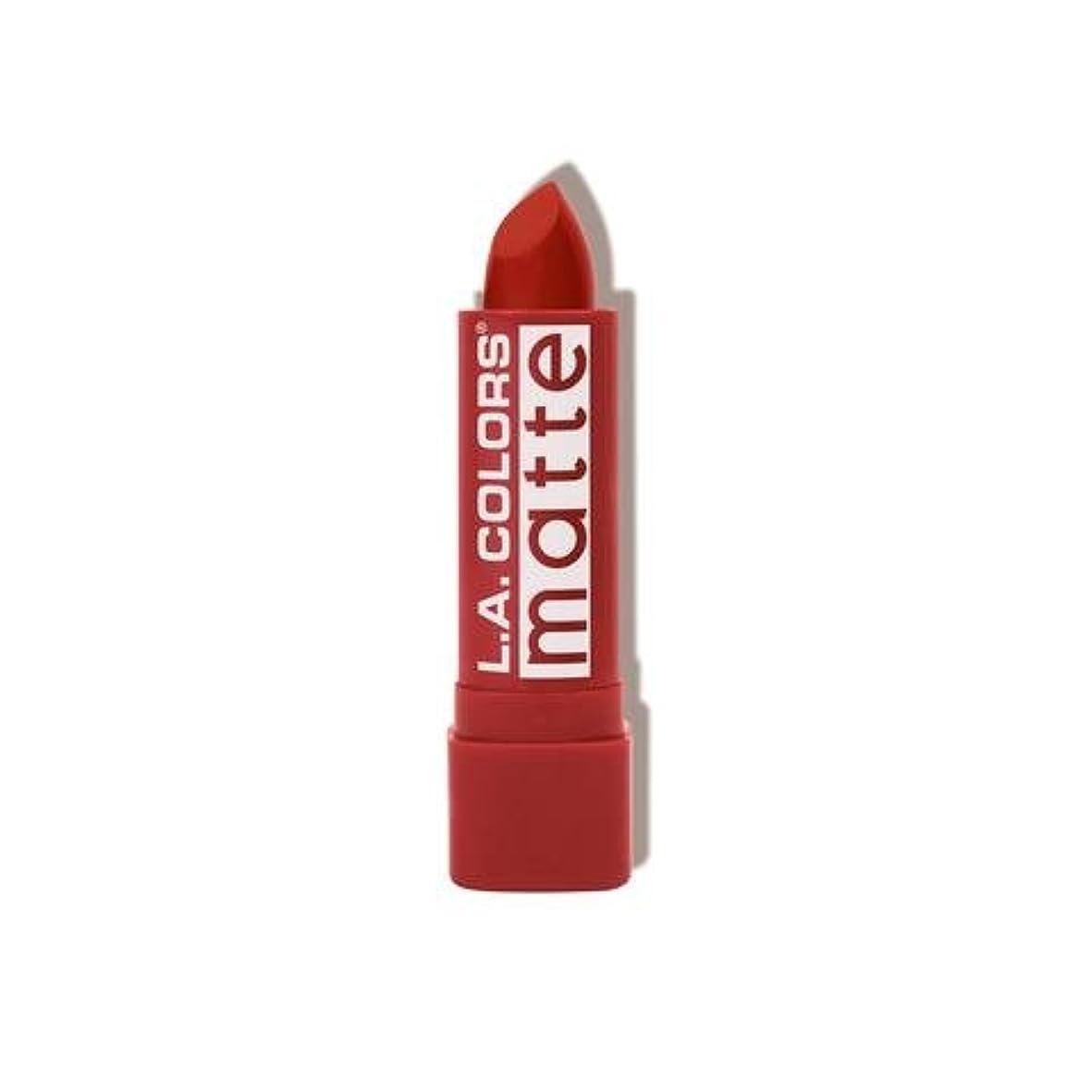 論理個性船酔いL.A. COLORS Matte Lip Color - Red Tango (並行輸入品)