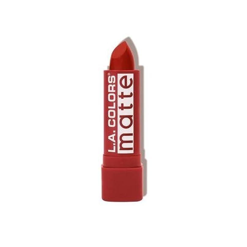 ビジュアル供給ピケ(6 Pack) L.A. COLORS Matte Lip Color - Red Tango (並行輸入品)