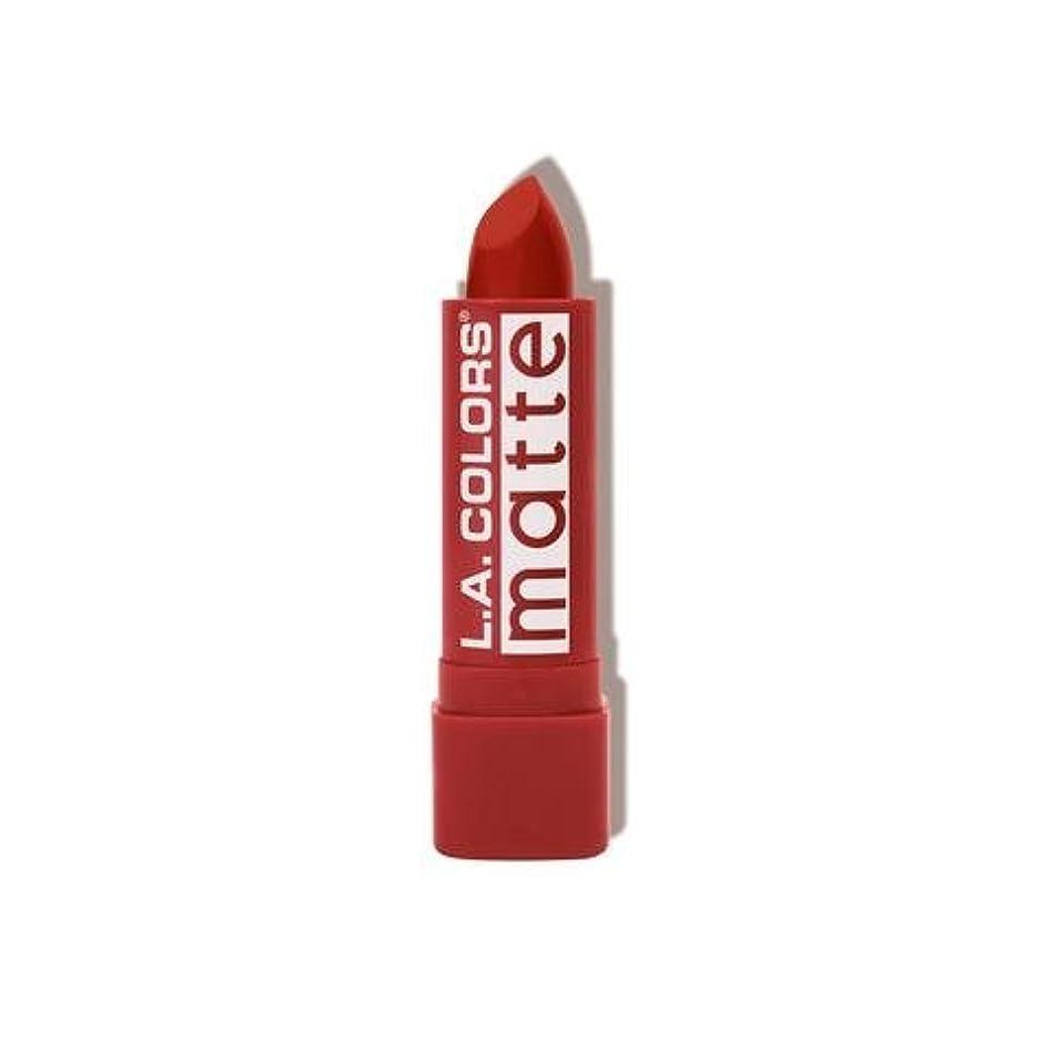ご飯シーン版L.A. COLORS Matte Lip Color - Red Tango (並行輸入品)