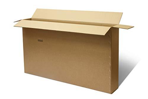 Caja de cartón para bicicleta, embalaje de doble pared para embalar, almacenar y enviar, con asas, incluye envoltorio de burbujas y cinta, 147 x 22 x 90 cm