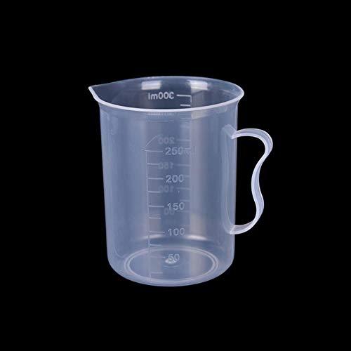 Heng 20/30/50/300/500/1000 / 1000ML Misurino Strumenti di misurazione Domestici caffè Zucchero Tazza Trasparente Gadget Cucina Digitale, 300ml