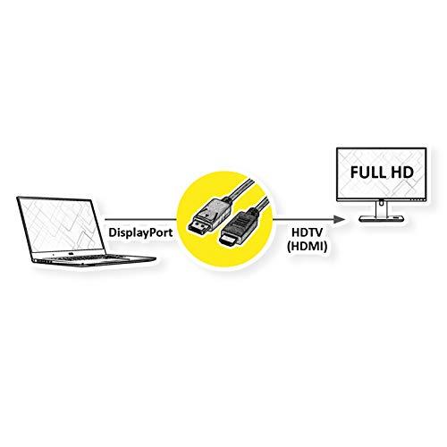 ROLINE DisplayPort Kabel DP - HDTV, ST/ST, schwarz, 3,0 m