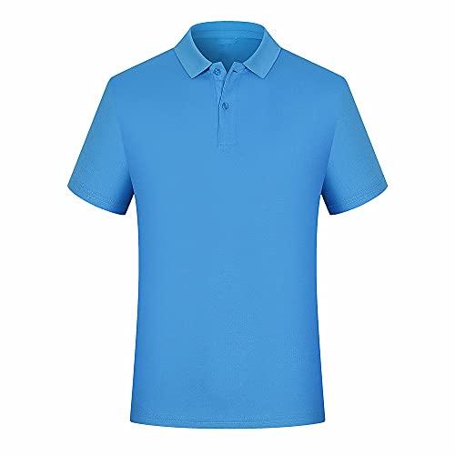 N\P Camiseta de solapa de manga corta para hombre de verano