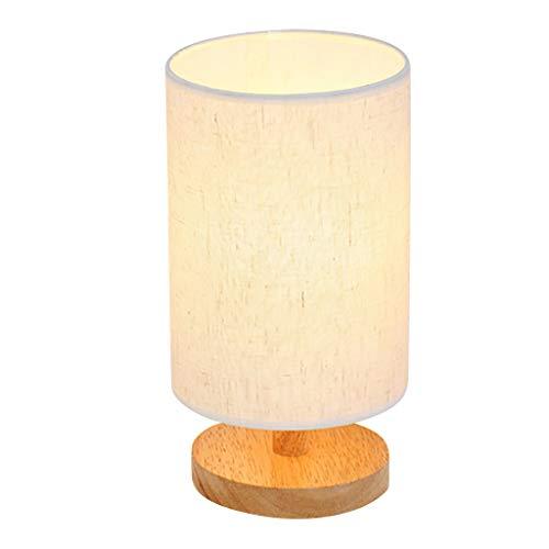Nachtlicht, Schlafzimmer LED Nachttischlampe, Dimmbar Tischleuchte Dimmbare Holz Nachttischlampe Warmweiß 40W Glühbirne Minimalistische Neuheit Romantische Tischleuchten