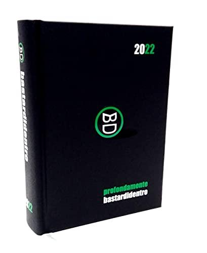 DIARIO SCUOLA Bastardidentro Bastardi Dentro evidentemente Nero Pocket 2021-2022 F.to 16x11cm + portachiave Gioco cubo e Penna Colorata