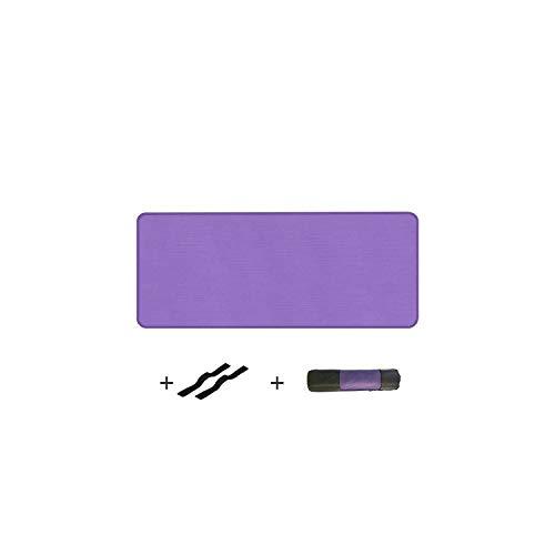 Forever Long Exercice antidérapant | Épaissi Femmes Hommes Tapis de Fitness Bord-Couvert Tapis de Yoga NBR Antidérapant pour Débutants Sport Gym Exercice Pad avec Sac-Violet 183x61cm-