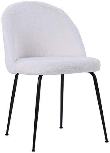 Stuhl Metall, Single Casual Soft Pack, Hotel/Restaurant/Haus/Möbel (Farbe: Dunkelgrün, Größe: 49 cm x 52 cm x 77 cm) für Office Lounge Dining Kitchen Bedroom