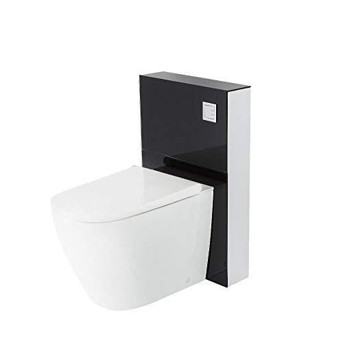 Hudson Reed Hirayu - Japanisches Stand Dusch-WC mit Sanitärmodul H 822mm Schwarz