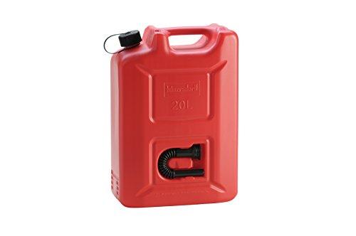 Preisvergleich Produktbild hünersdorff 802060 Kraftstoff-Kanister PROFI 20l für Benzin,  Diesel und andere Gefahrgüter,  UN-Zulassung,  made in Germany,  TÜV-geprüfter Produktion,  rot