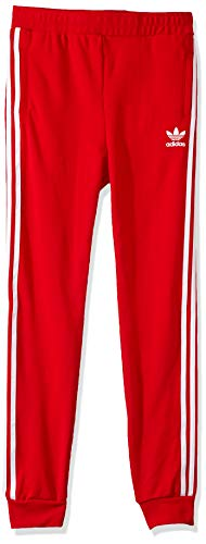 adidas Originals Little Kids Trefoil Pant, Scarlet/White, Large