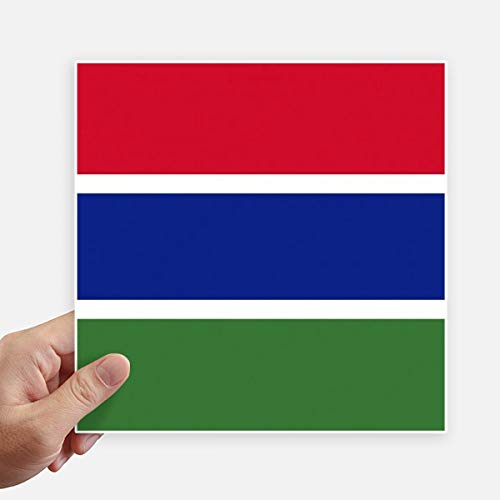DIYthinker De Gambia Nationale Vlag Afrika Land Vierkante Stickers 20Cm Wandkoffer Laptop Motobike Decal 4 Stks