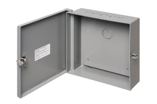 Arlington Industries EB1212BP-1 Electronic Equipment Enclosure Box with Back plate, 12 x 12 x 4-Inch, Non-Metallic, 1-Pack