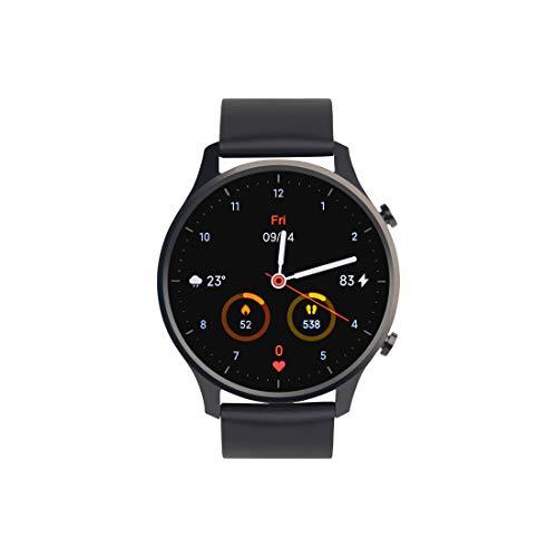 "Mi Watch Revolve (Midnight Black) - Premium Metallic Design, 1.39"" AMOLED Display, Firstbeat Motion Algorithm, 10 Professional Sports Mode, 2 Weeks Battery Life, 5ATM Water Resistance Xiaomi Wear App"