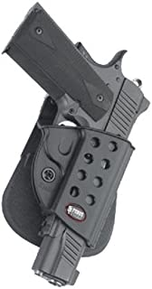 Fobus Tactical KMSP RT Standard Right Hand Conceal Carry Polymer Roto Paddle Holster For Colt 1911 with Rails,Kimber Custom TLE / RL II .45 cal / Springfield 1911 .45 cal - Black