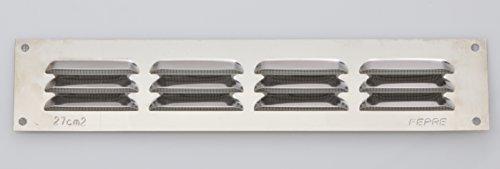 Lüftungsgitter Wetterschutzgitter Luftgitter 5 x 25 cm Edelstahl Lamellengitter