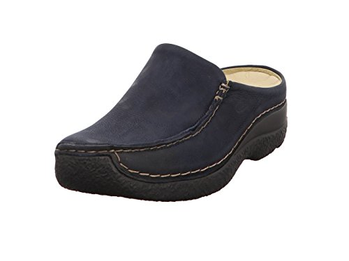 Wolky Comfort Clogs Seamy Slide - 11802 blau geöltes Nubuk - 42