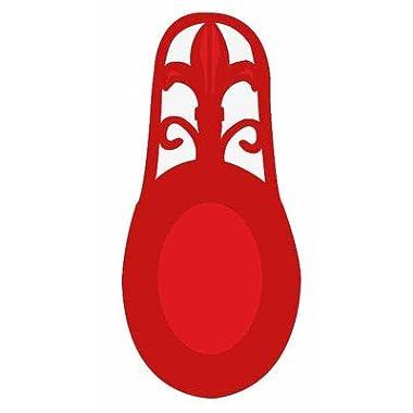 Home Basics Cast Iron Fleur De Lis Spoon Rest (Red)