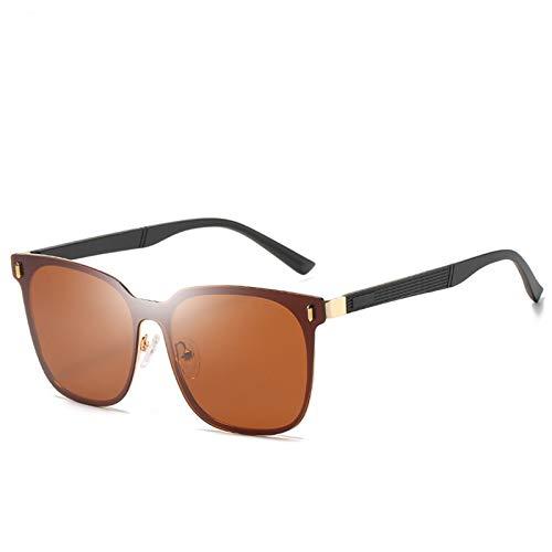 WWDKF Gafas De Sol Hombre, Gafas De Sol De Conducción con Montura Grande Polarizadas TAC, Bloquean Eficazmente El Deslumbramiento, Visión Clara, Protección UV, Color Natural,A