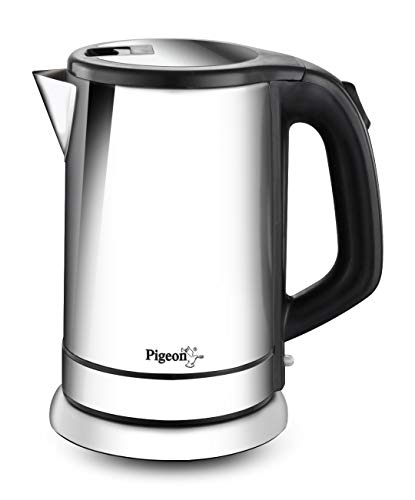 Pigeon by Stovekraft Zen Kettle with Stainless Steel Body, 1.8 litres with 1500 Watt, Boiler for Water, Milk, Tea, Coffee, Instant Noodles, Soup etc