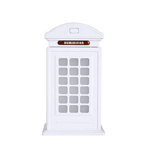 YBQ Humidificador de cabina de teléfono. Mini USB humidificador de aire silenciador luminoso colorido humidificador de gran capacidad (color: rojo) (color: blanco)