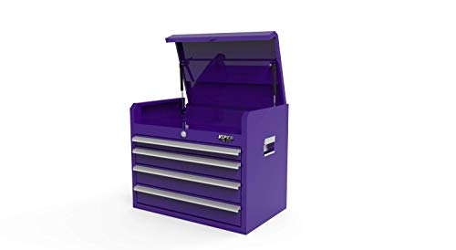 Viper Tool Storage 26-Inch 4-Drawer Steel Top Chest, Purple (V2604PUC)