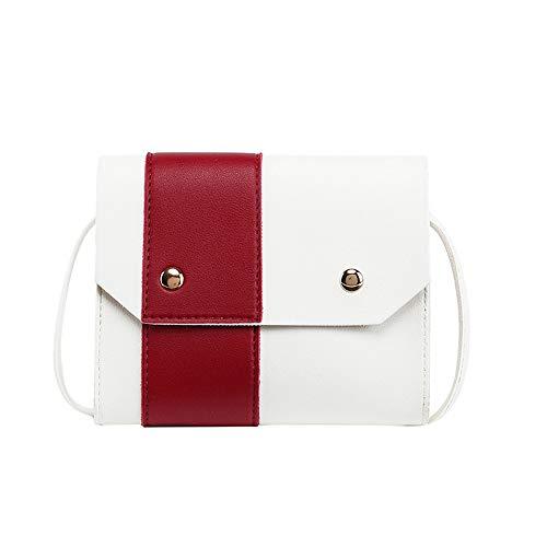 Damen-Umhängetasche für frische und süße Beauty-Kissen, Bonbonfarben, tragbar, Rot - rot - Größe: Einheitsgröße