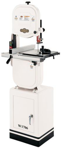 """Shop Fox W1706 14"""" Bandsaw with Cast Iron Wheels & Deluxe Aluminum Fence"""
