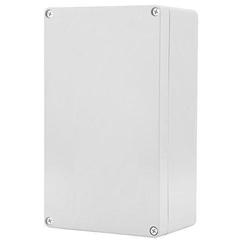 Caja de Conexiones Electricas Plástico, IP65 ABS Caja Instrumentos Eléctrica para Caja de Proyectos Eléctricos Resistente al Agua, para Interiores y Exteriores Eléctricos(200 * 120 * 75mm)