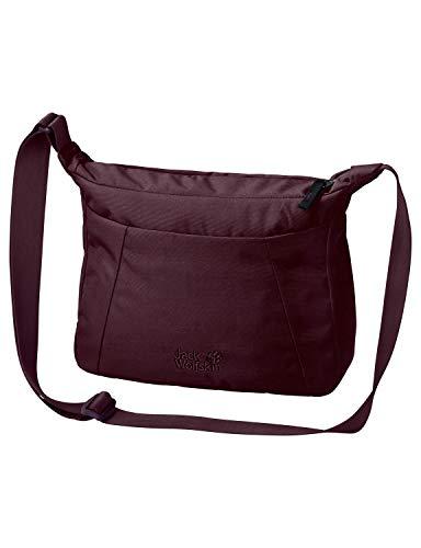 Jack Wolfskin Damen Valparaiso Bag Umhängetasche Alltag Tasche, Burgundy, ONE Size