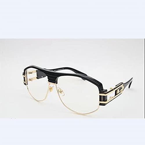 N/A Gafas de Sol para Hombre Gafas de Sol para Mujer Gafas de Sol Marca Gafas de Sol Doradas Metalizadas con semiencuadre Gafas de Gran tamaño