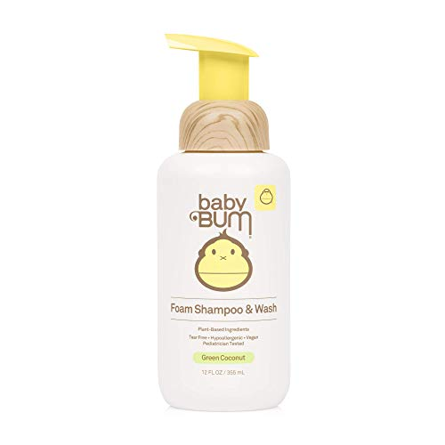 Baby Bum Shampoo & Wash | Tear Free Foaming Soap for Sensitive Skin with Nourishing Coconut Oil | Natural Fragrance | Gluten Free and Vegan | 12 FL OZ