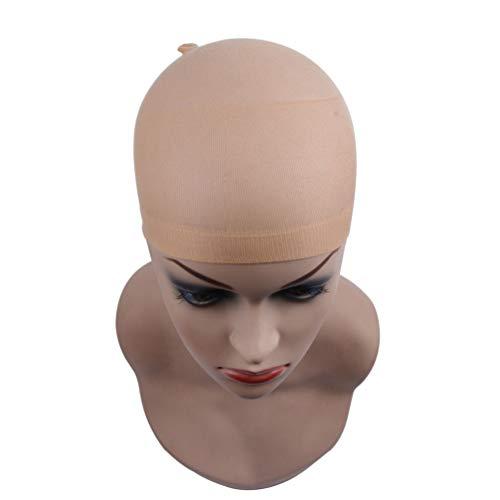 Filet De Cheveux De Chapeau De Perruque, 36Pcs Filet De Cheveux De Chapeau De Perruque De Haute Qualité, Utilisé Pour Les Cheveux Tressés,Beige