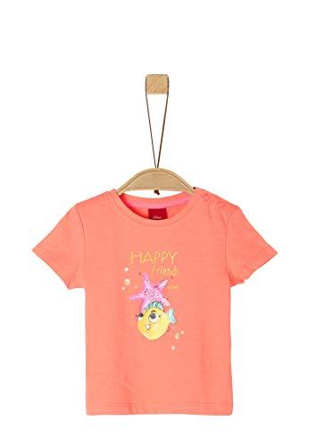 s.Oliver Junior T-Shirt, 2034 Arancione, 62 Bimba