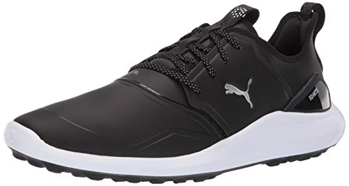 PUMA mens Ignite Nxt Pro Golf Shoe, Puma Black-puma Team Gold-puma White, 10.5 US