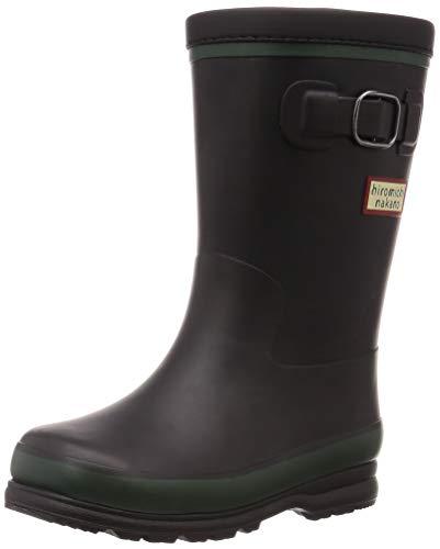 [ヒロミチナカノ] レインブーツ 靴 防寒 防滑 ゆったり 14~19cm キッズ HN WC171R ブラック 17 cm 2E