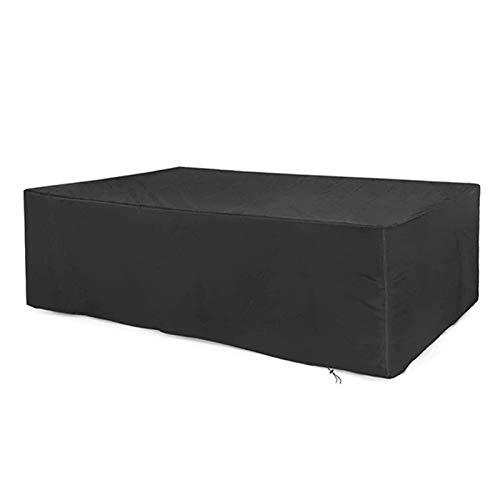 ASPZQ Cubierta de Muebles Patio Al Aire Libre, Rectangular Funda para Mesa Y Silla Impermeable para Muebles Jardín, con Cordón (Color : Negro, Size : 120×120×75cm)