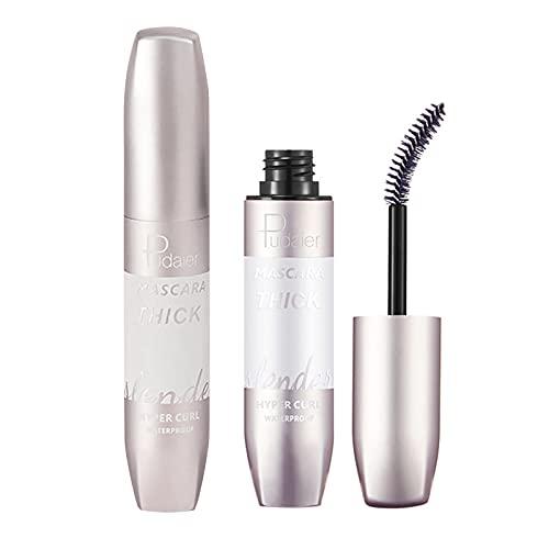 4D Silk Fibre Lash Mascara SuperSize False Lash Look Mascara Kontaktlinsenfreundliche schwarze Wimperntusche mit Push-Up-Effekt, Farbe Black 1010N (Braun)
