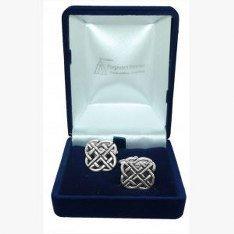 Boutons de manchette de noeud celtique, cadeau de mariage/Best Man/Usher, livrés dans un sachet en Organza