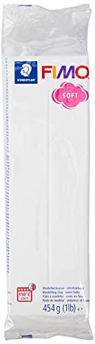 Staedtler - FIMO Pasta da modellare, si indurisce in forno, blocco grande da 454 g, colore: Bianco