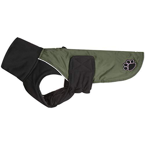 JoyDaog Manteau pour chien avec col haut et col croisé pour chien de grande taille Imperméable et chaud pour l'hiver froid Vert XXL