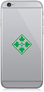 Pair of 4th ID - Infantry Division Cell Phone Stickers Mobile Fort Carson Army Color - Green