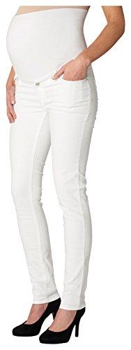 ESPRIT Maternity Damen Umstandshose Q8C119, Weiß (White 100), W29/L32 (Herstellergröße:36/32)