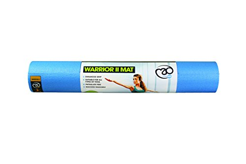 Yoga Mad Warrior II Mat Esterilla para Yoga/Pilates/Gimnasia, Unisex Adulto, Azul Claro, 4mm