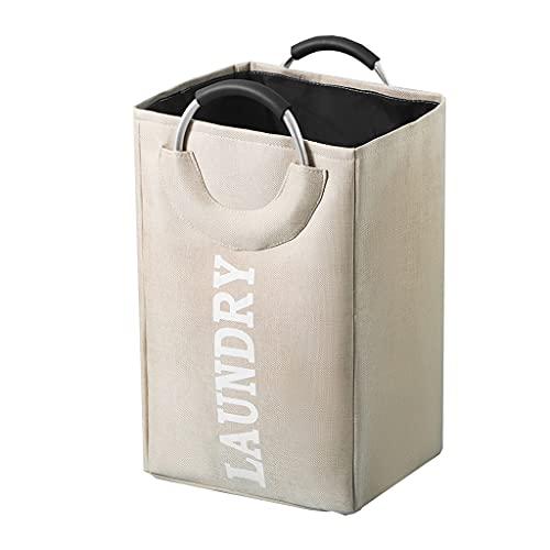 Cajas de almacenaje Canasta de ropa sucia de estilo literario material de algodón y lino canasta de almacenamiento de juguetes plegable gran capacidad canasta de lavandería multifuncional adecuada par